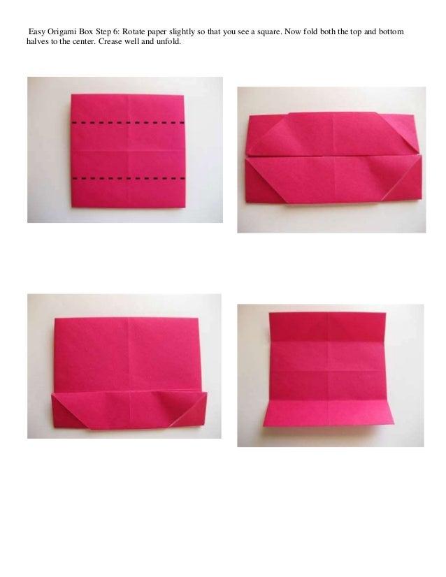 easy origami box step 1
