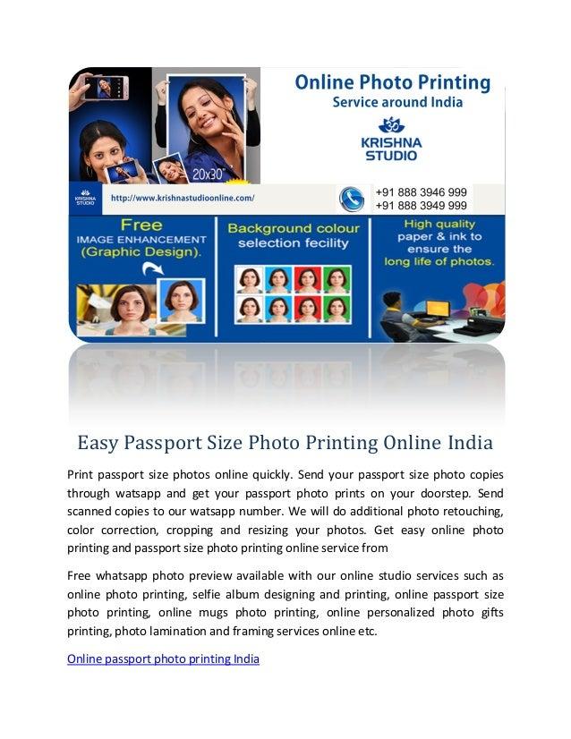 Easy Passport Size Photo Printing Online India