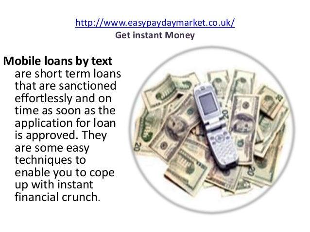 Instant mobile text loans månad, året att