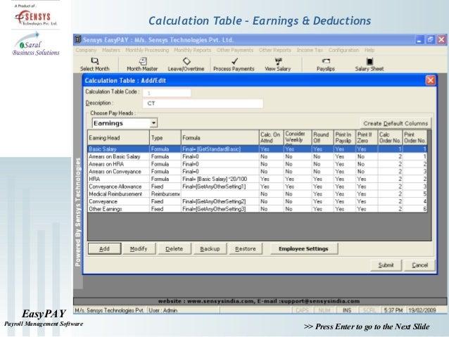 payroll calculation software