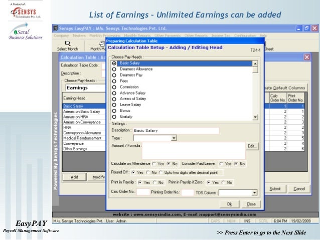 deductions 7 easypay payroll management software