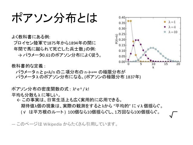 ポアソン分布の式を忘れない方法 及び 二項分布との関係  How to avoid forgetting the formula of the probability mass functoin of the Poisson distribution