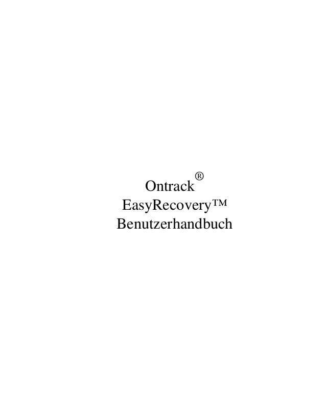 ®    Ontrack EasyRecovery™Benutzerhandbuch