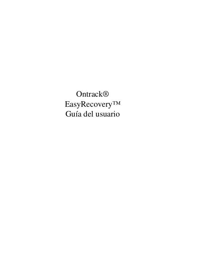 Ontrack®EasyRecovery™Guía del usuario