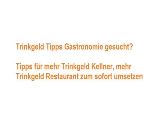 Mehr Trinkgeld Bekommen - www.easy-restaurant-management.com