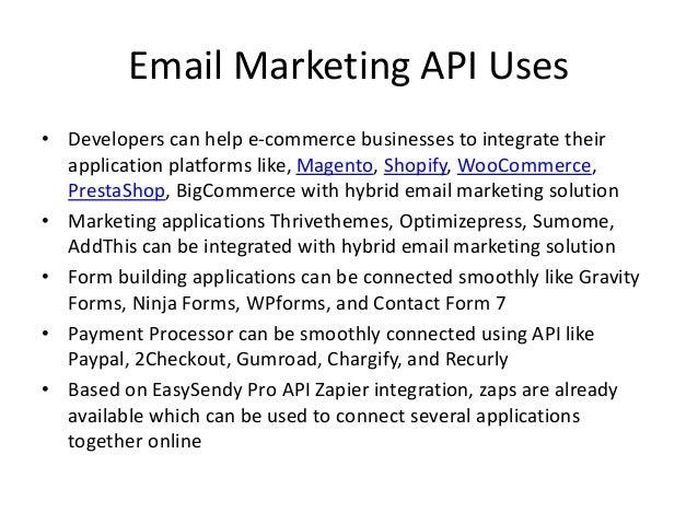 EasySendy Pro Email Marketing API Slide 3