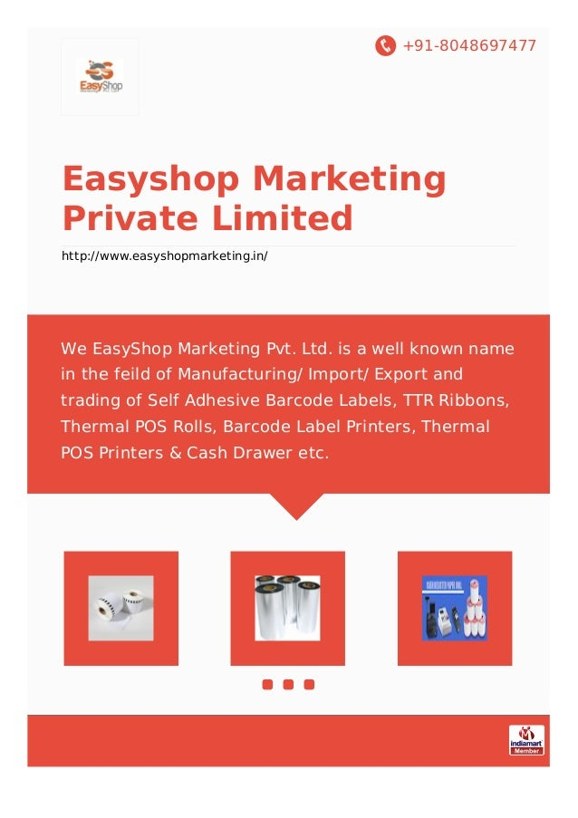 +91-8048697477 Easyshop Marketing Private Limited http://www.easyshopmarketing.in/ We EasyShop Marketing Pvt. Ltd. is a we...
