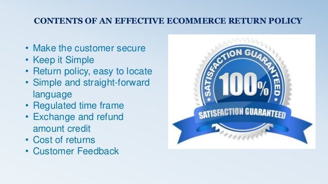 Return & Refund Policy In Ecommerce