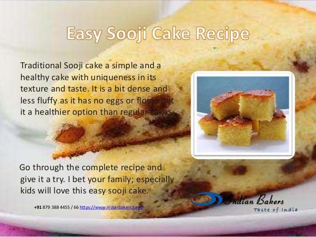 Easy sooji cake rava cake recipe from for Basic cake recipe for kids