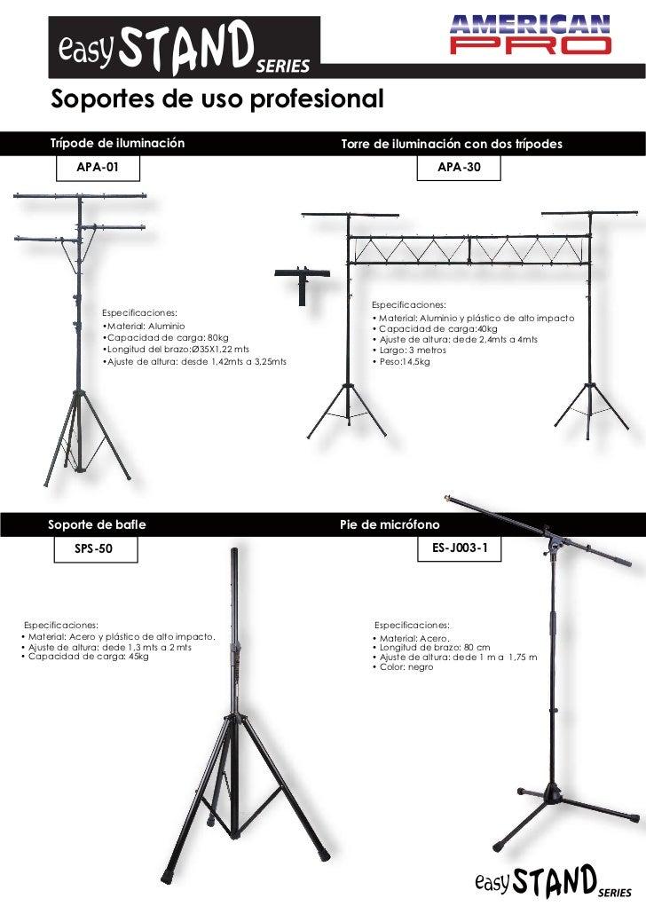 Soportes de uso profesional      Trípode de iluminación                                   Torre de iluminación con dos trí...