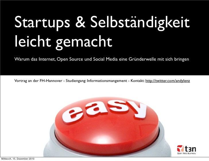 Startups & Selbständigkeit leicht gemacht