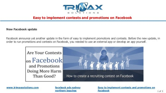 www.trimaxsolutions.com facebook ads sydney northern beaches 1 of 3 Facebook announce yet another update in the form of ea...