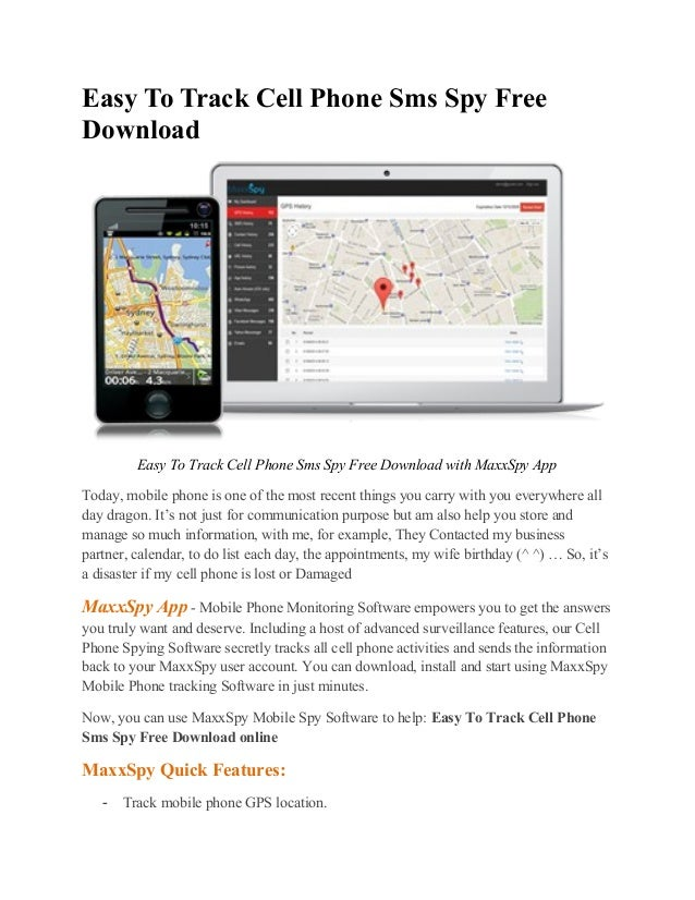 easy cell phone spy free download