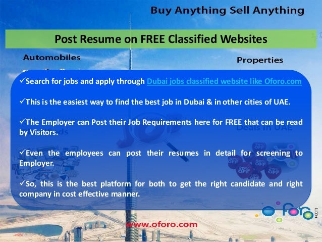 Easy Way Of Getting Jobs In Dubai At Www Oforo Com
