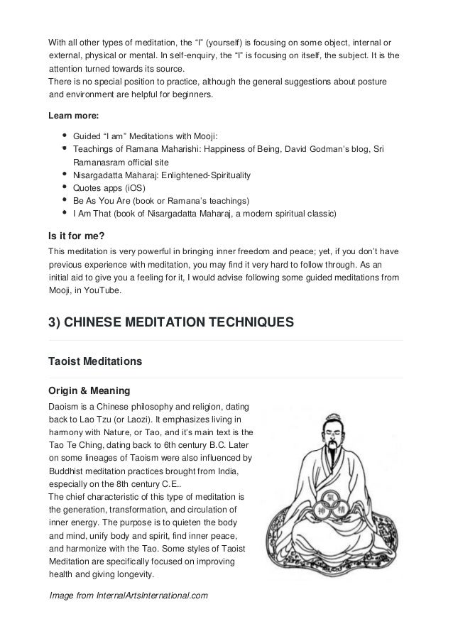 Easiest ways to meditate an overview of 23 meditation techniques