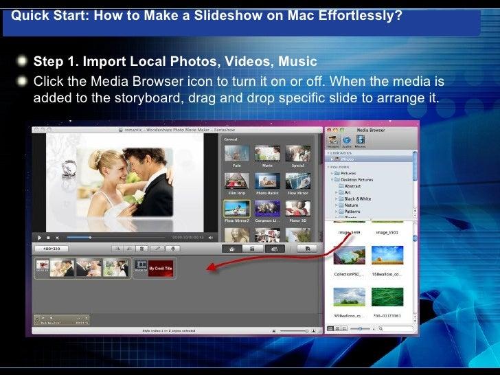 Easy way to create a slideshow on mac