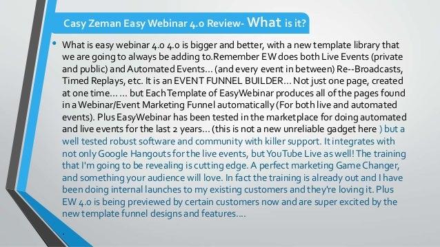 Easy webinar 4.0 review + low price Slide 3