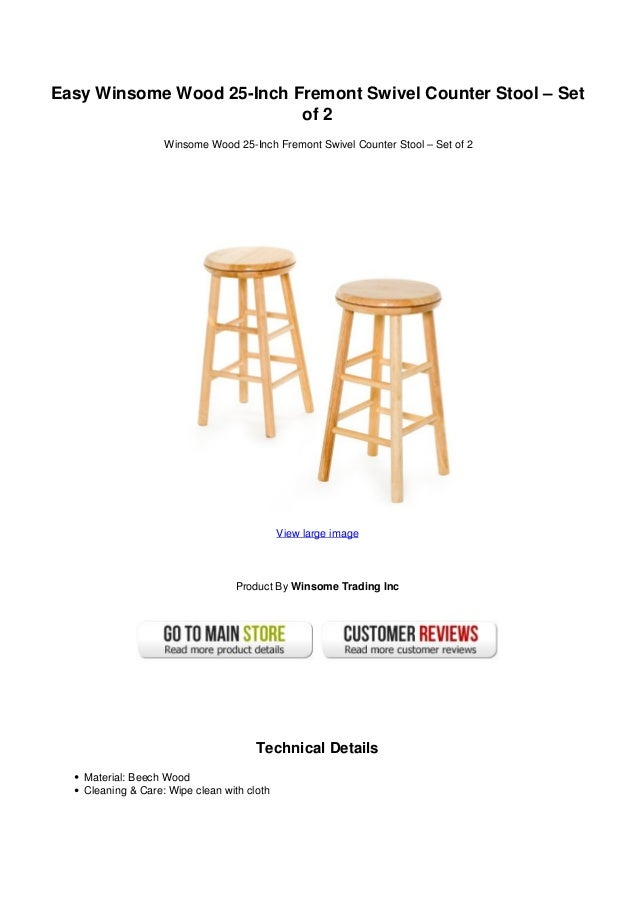 Easy Winsome Wood 25 Inch Fremont Swivel Counter Stool Set Of 2