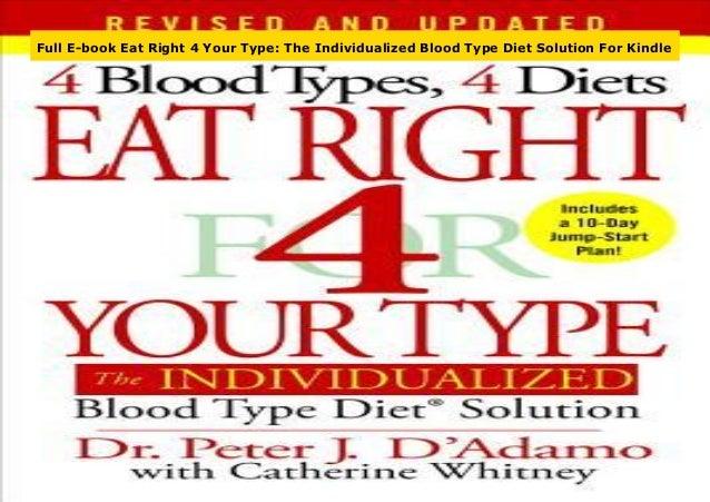 best book on blood type diet