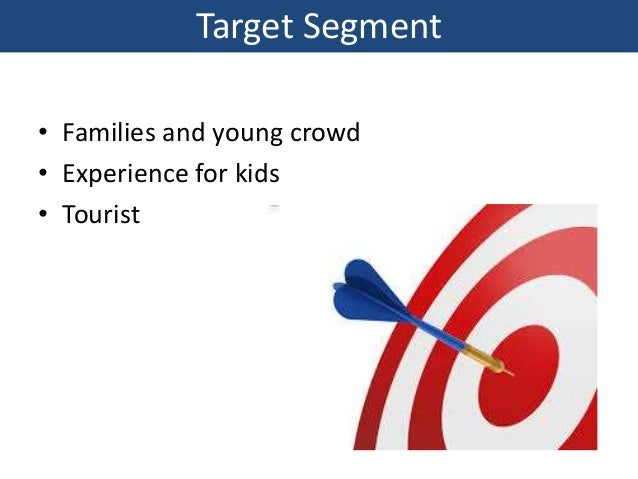 Target Segment • Families and young crowd • Experience for kids • Tourist