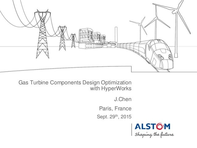 Gas turbine components design optimization with Hyperworks
