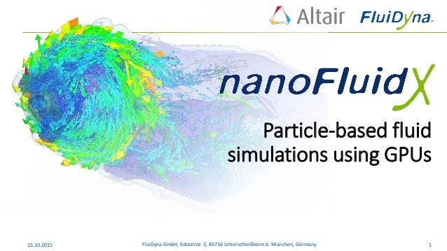 Particle-based fluid simulations using GPUs