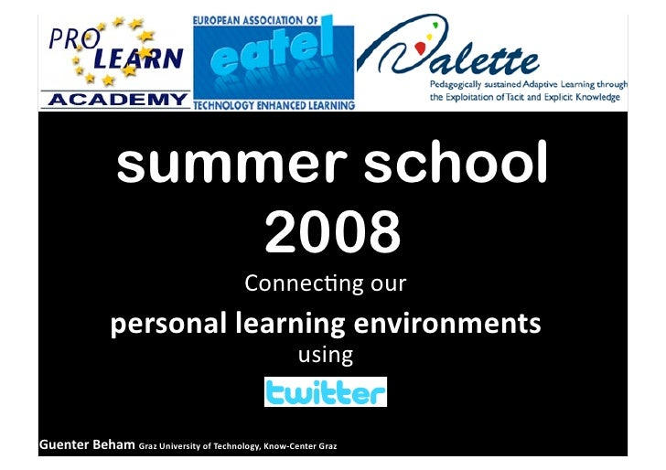 summer school                    2008                                           Connec&ngour               personallear...