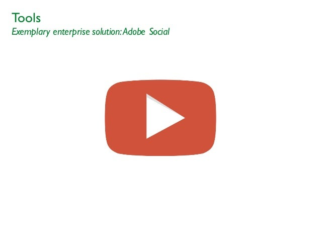 Tools Exemplary enterprise solution:Adobe Social