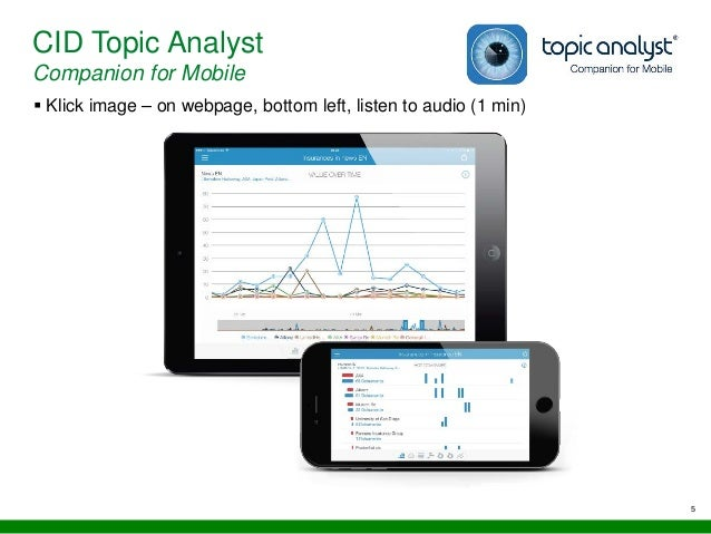 5 CID Topic Analyst Companion for Mobile  Klick image – on webpage, bottom left, listen to audio (1 min)