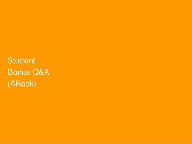 Student Bonus Q&A (ABack)