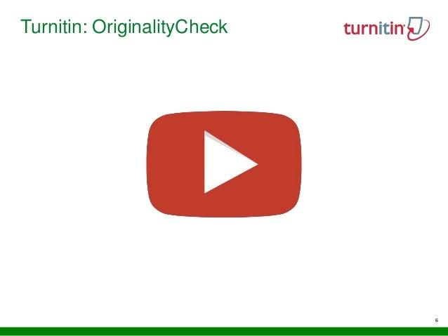 6 Turnitin: OriginalityCheck