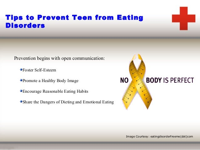 how to prevent eating disorder The time to prevent eating disorders is before they begin here are 5 proactive  steps parents can take to help children develop healthy attitudes.
