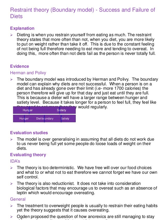 psychology eating behaviour essay A model essay answers for aqa a psychology as and a level covering unit 1 7181/1, unit 2 7181/2 and unit 3 7182 covering every possible question.