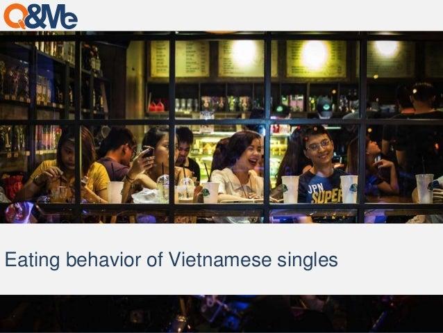 Eating behavior of Vietnamese singles