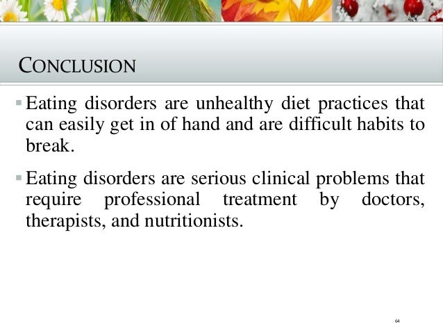 Personal essay eating disorders