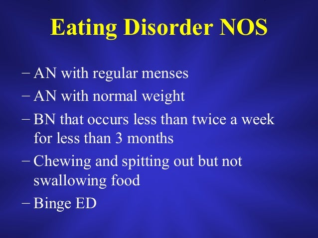 A Brief Overview of Eating Disorders