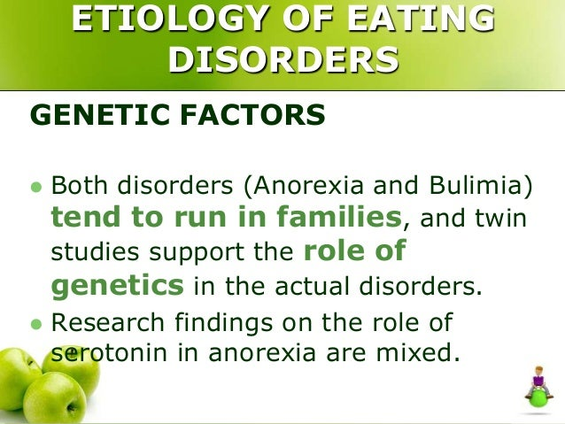 A research on eating disorders