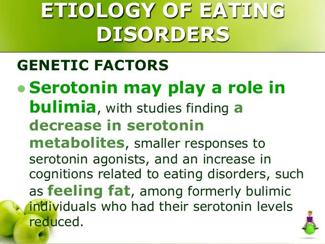 the correlation between eating disorders and inheritable genetic factors The relationship between eating disorders and sexual  neurobiology and genetics)  coming to terms with risk factors for eating disorders:.