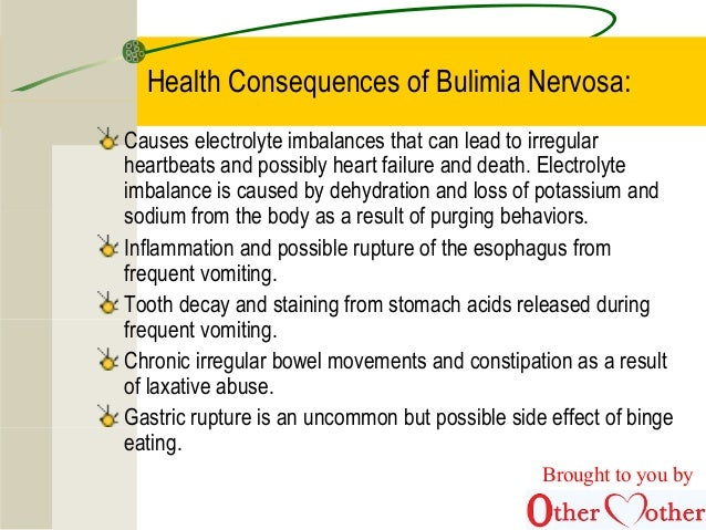 the negative effects of bulimia nervosa Eating disorders -- anorexia, bulimia, binge eating disorder, compulsive overeating  bulimia nervosa bulimia nervosa what is bulimia nervosa  physical dangers .