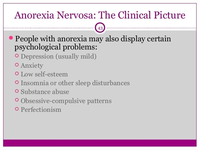 anorexia nervosa an overview of a maladaptive behavior Key differences in brain activity in people with anorexia nervosa revealed by study  behavior institute summary:  that helps patients with anorexia nervosa change maladaptive behaviors .