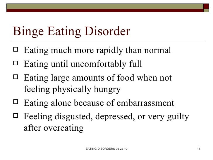 Top Compulsive Eating Disorder Definition Pics