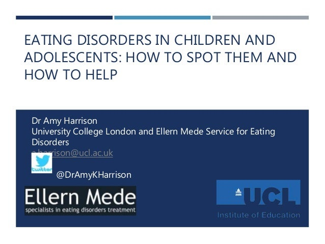 eating disorders in children and adolescents Anorexia nervosa and other eating disorders are arguably the most complex mental health problems that a child or adolescent may experience numbers seeking help are on the increase, and the complexity of these disorders challenges even the most experienced clinician.