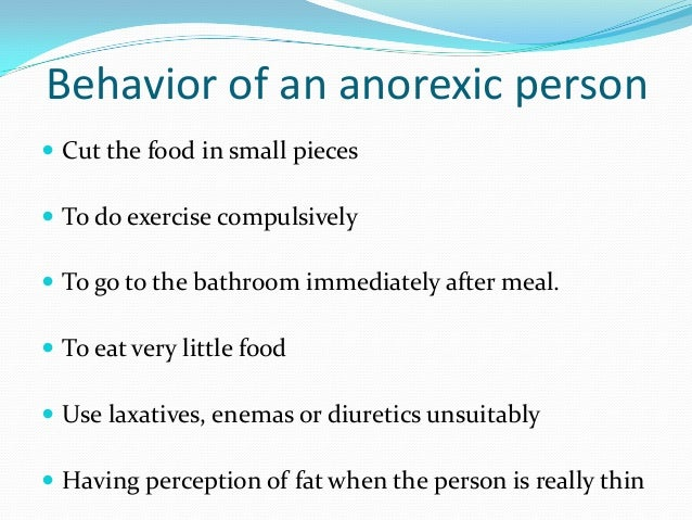 an introduction to the issue of striving for thinness anorexia nervosa Anorexia nervosa however, is a preoccupation with dieting and thinness that the focus is on weight gain initially and gradually progresses to psychological issues.