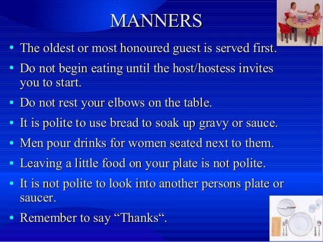 😍 Russian table manners. Etiquette. Table Manners and