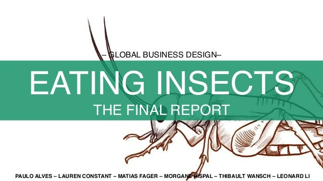 – GLOBAL BUSINESS DESIGN– EATING INSECTS THE FINAL REPORT PAULO ALVES – LAUREN CONSTANT – MATIAS FAGER – MORGANE RISPAL – ...