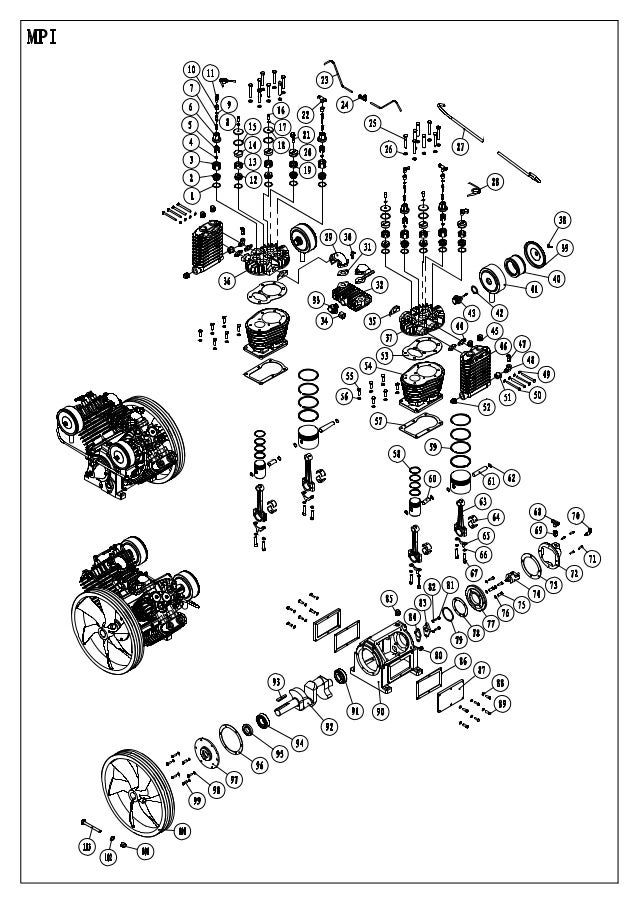 Eaton 10hp Compressor Exploded View And Assembled Parts List