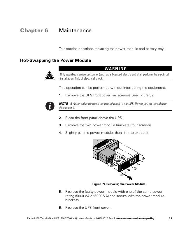 Eaton 9135 Ups Users Guide