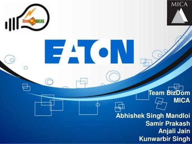Team BizDom                 MICAAbhishek Singh Mandloi         Samir Prakash            Anjali Jain      Kunwarbir Singh