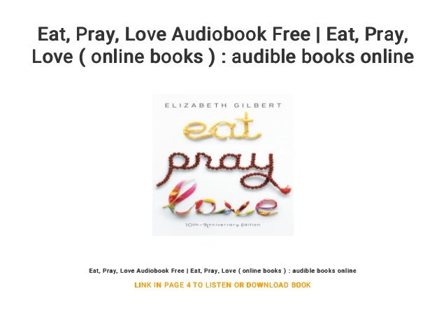 eat pray love book online free