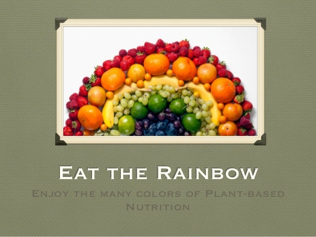 Eat The Rainbow: Enjoy The Many Colors of Plant Based Nutrition